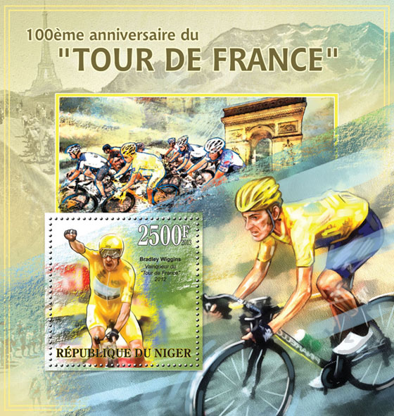 Tour de France, (Bradley Wiggins) - Issue of Niger postage stamps