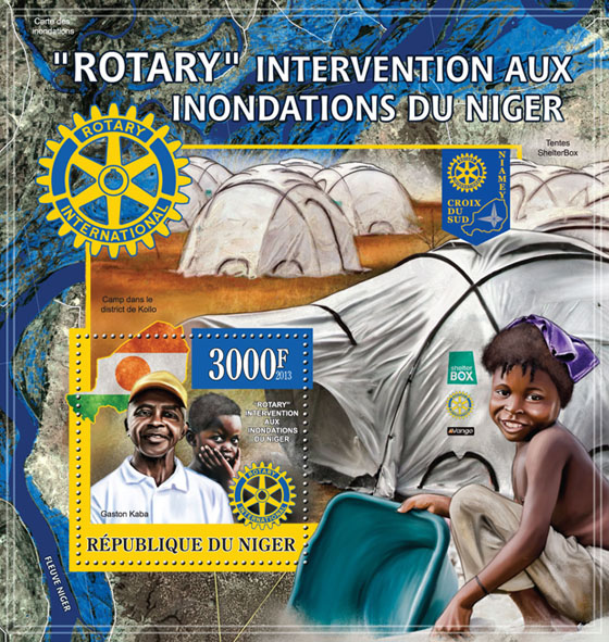 Rotary Response to Floods in Niger - Issue of Niger postage stamps