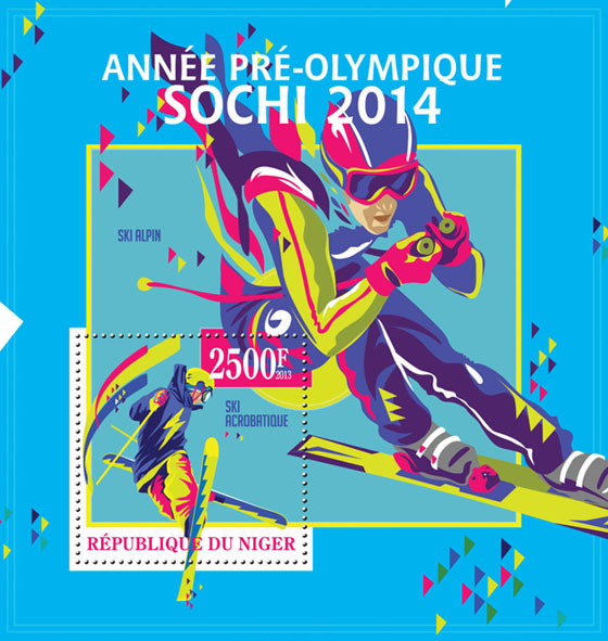 Sochi 2014, (Freestyle Skiing) - Issue of Niger postage stamps