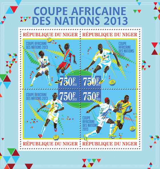 Football - African Cup of Nations 2013 - Issue of Niger postage stamps