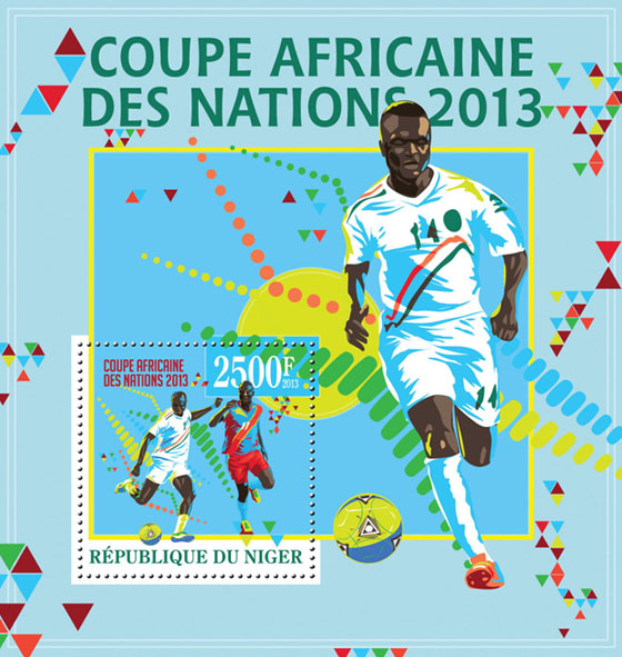Football - African Cup of Nations 2016 - Issue of Niger postage stamps
