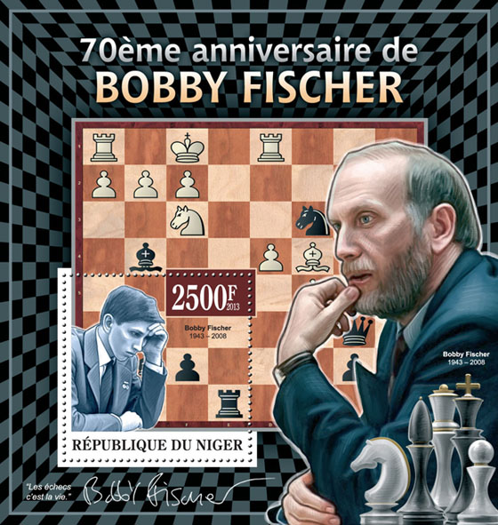 Bobby Fischer - Issue of Niger postage stamps