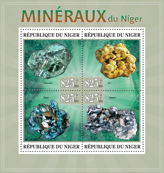 Minerals Niger - Issue of Niger postage stamps