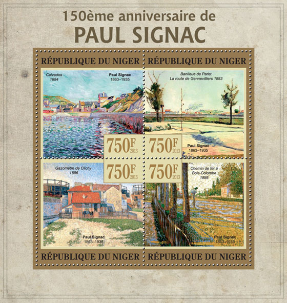 Paul Signac - Issue of Niger postage stamps