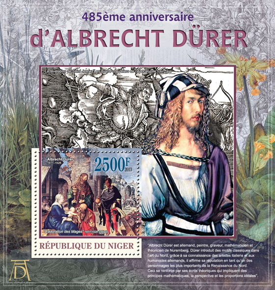 Albrecht Durer - Issue of Niger postage stamps