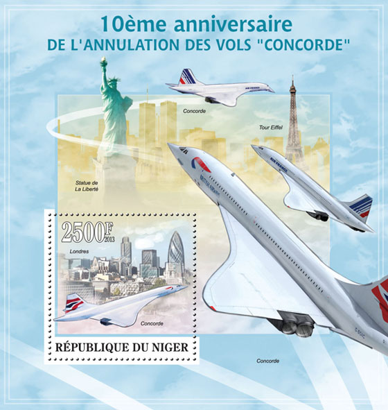 Concorde - Issue of Niger postage stamps