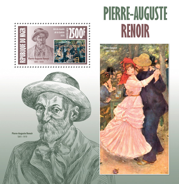 Auguste renoir  - Issue of Niger postage stamps