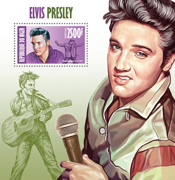Elvis Presley - Issue of Niger postage stamps