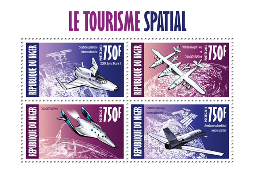 Space tourism - Issue of Niger postage stamps