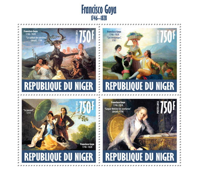 Francisko Goya - Issue of Niger postage stamps