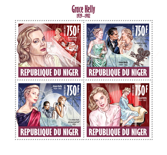 Grace Kelly  - Issue of Niger postage stamps