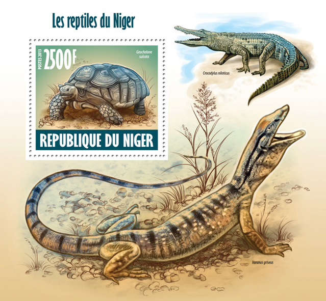 Reptiles - Issue of Niger postage stamps