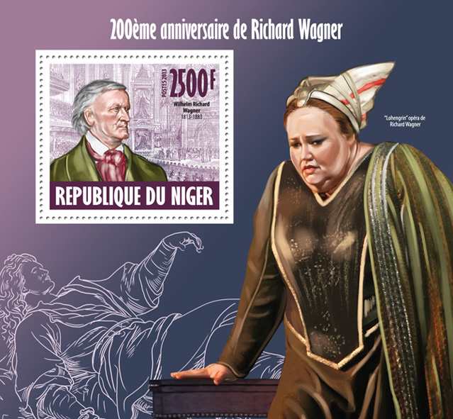 Richard Wagner - Issue of Niger postage stamps