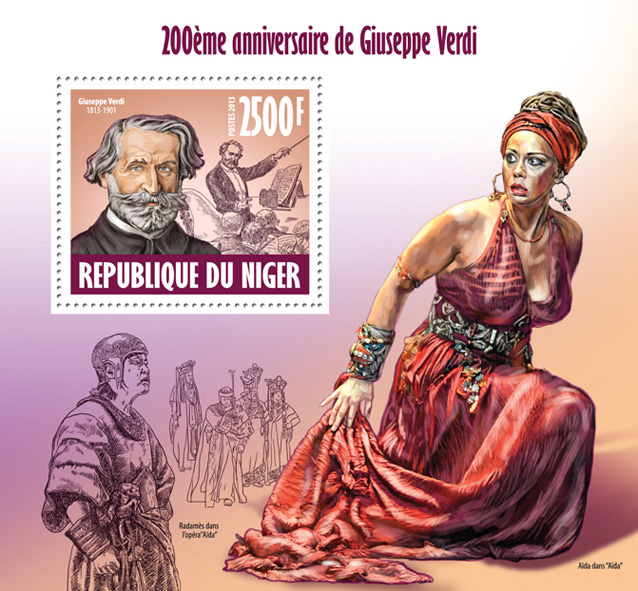 Giuseppe Verdi. - Issue of Niger postage stamps