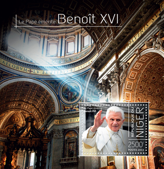 Pope Benedict XVI - Issue of Niger postage stamps