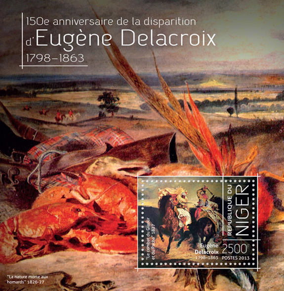 Eugene Delacroix - Issue of Niger postage stamps