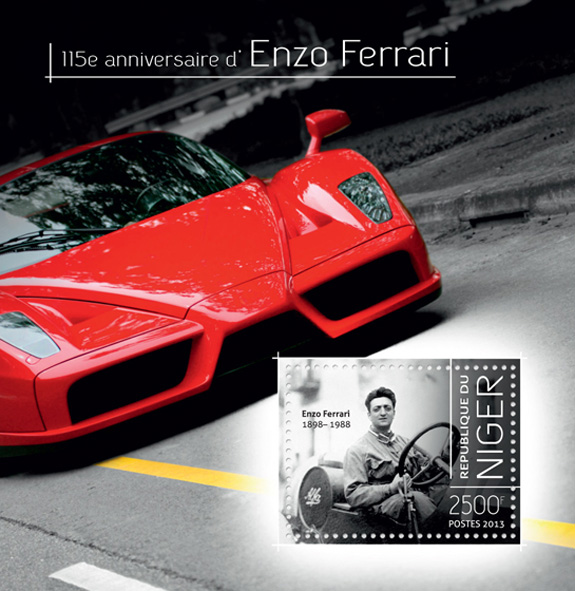 Enzo Ferrari - Issue of Niger postage stamps