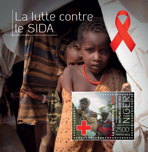 AIDS - Issue of Niger postage stamps