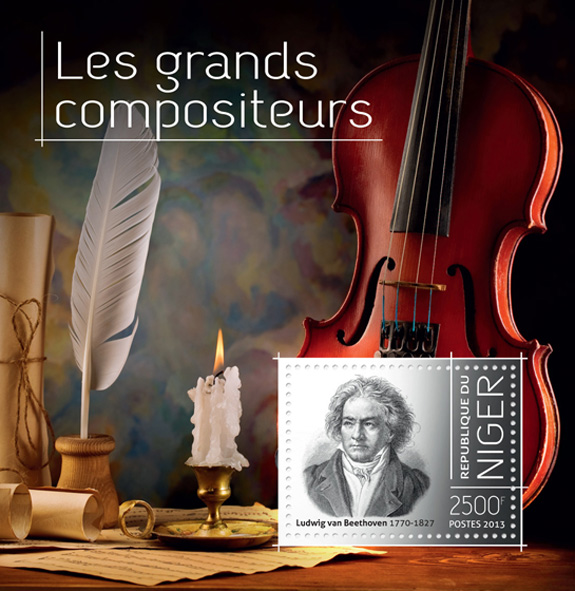 Great composers - Issue of Niger postage stamps