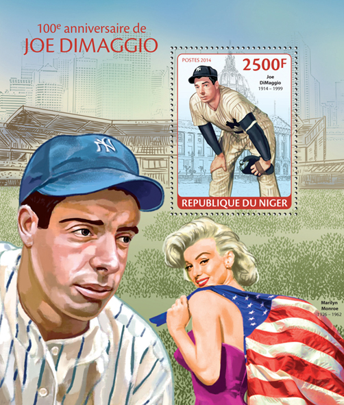 Joe DiMaggio - Issue of Niger postage stamps