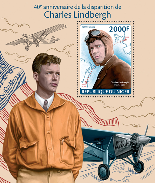 Charles Lindbergh  - Issue of Niger postage stamps