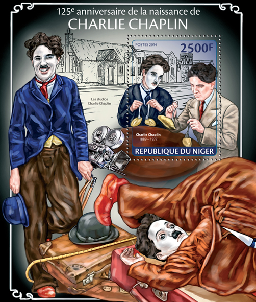 Charlie Chaplin - Issue of Niger postage stamps