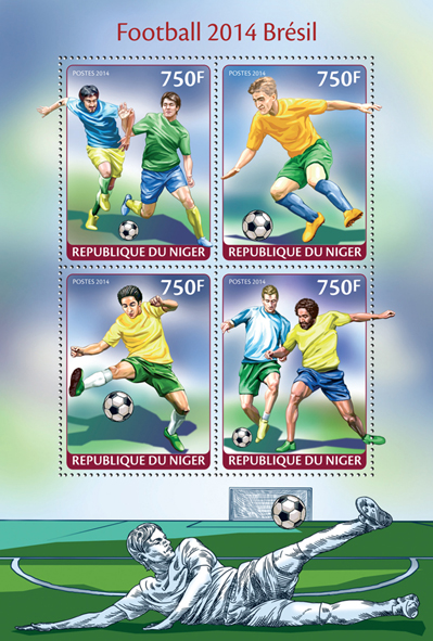 Brasil 2014 - Issue of Niger postage stamps