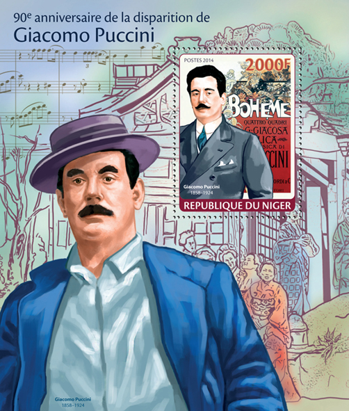 Giacomo Puccini - Issue of Niger postage stamps