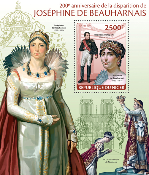 Josephine Beauharnais - Issue of Niger postage stamps