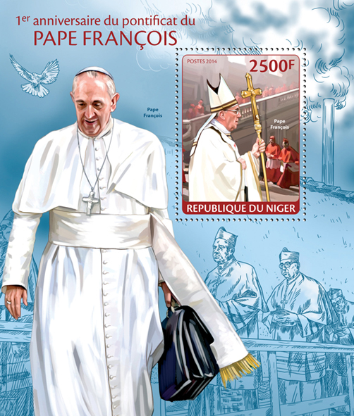 Pope Francis - Issue of Niger postage stamps