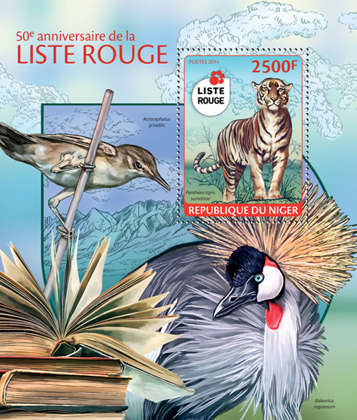 Red list - Issue of Niger postage stamps