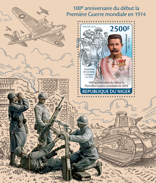 World War I - Issue of Niger postage stamps