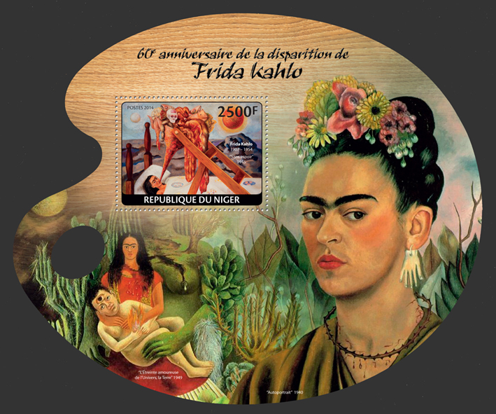 Frida Kahlo - Issue of Niger postage stamps