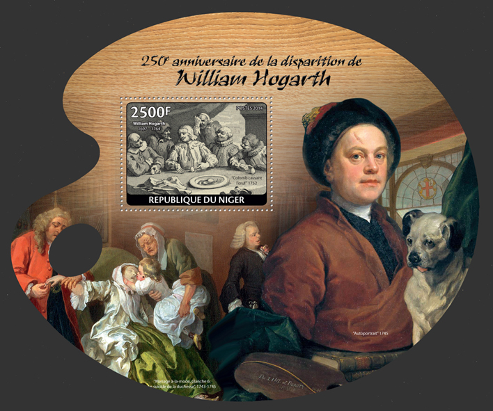 William Hogarth - Issue of Niger postage stamps