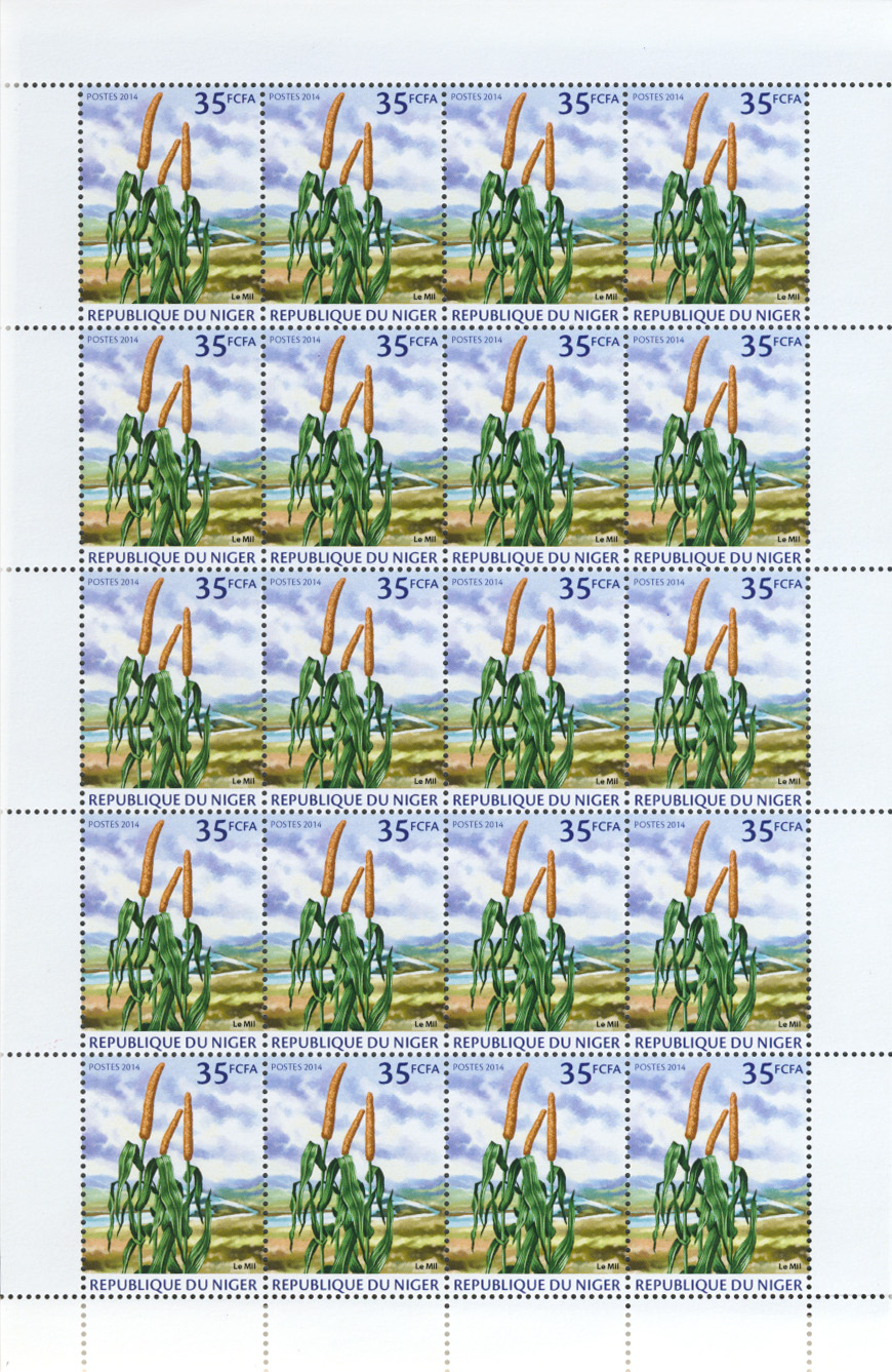 Millet 20v - Issue of Niger postage stamps