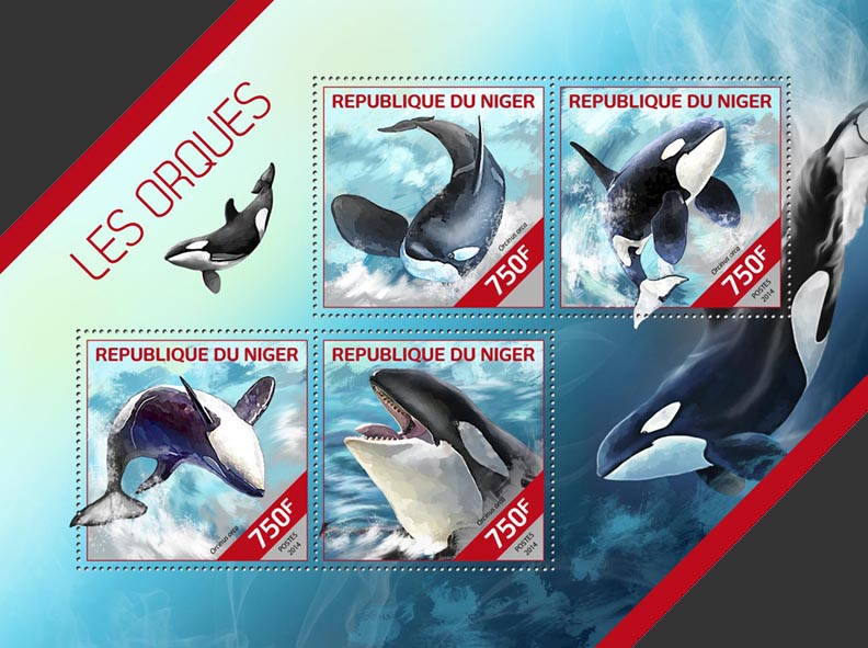 Orcas - Issue of Niger postage stamps