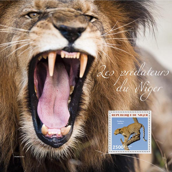 The predators - Issue of Niger postage stamps
