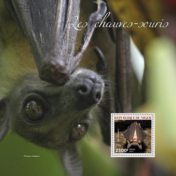 Bats - Issue of Niger postage stamps