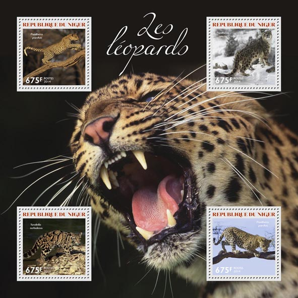 Leopards - Issue of Niger postage stamps