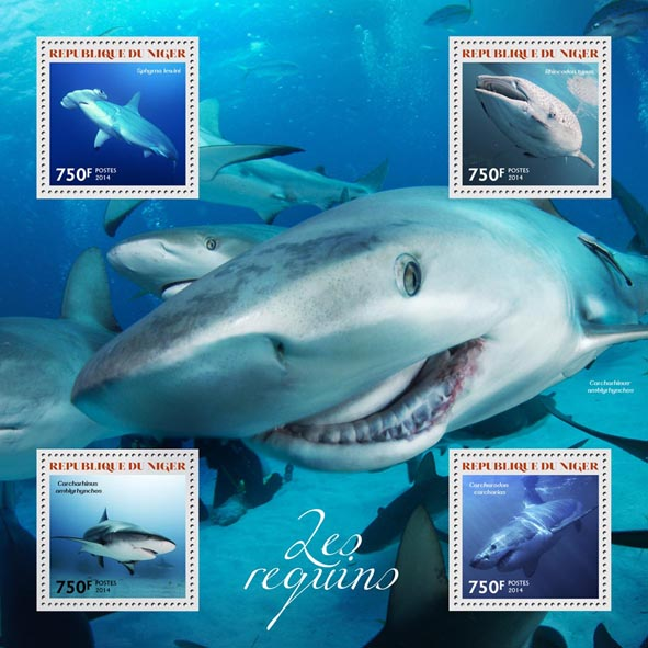 Sharks - Issue of Niger postage stamps
