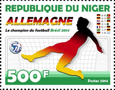 Brazil 2014 – 1v - Issue of Niger postage stamps