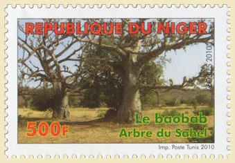 Baobab tree (04.06.2010) - Issue of Niger postage stamps