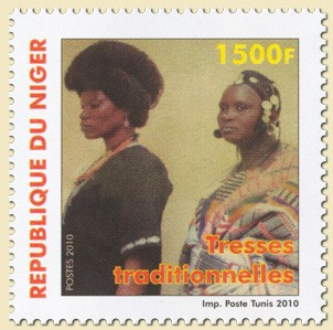 Traditional braids (04.06.2010) - Issue of Niger postage stamps