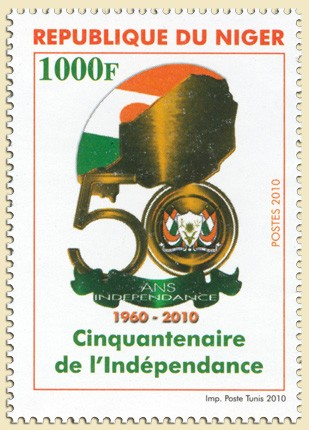 Fiftieth anniversary of independence (30.06.2010) - Issue of Niger postage stamps