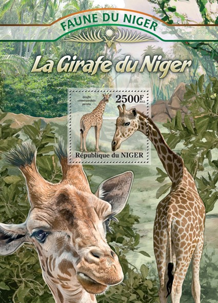 Giraffes - Issue of Niger postage stamps