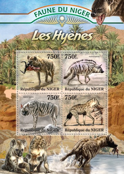 Hyenas - Issue of Niger postage stamps