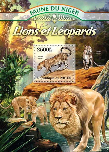 Leopards and Lions - Issue of Niger postage stamps