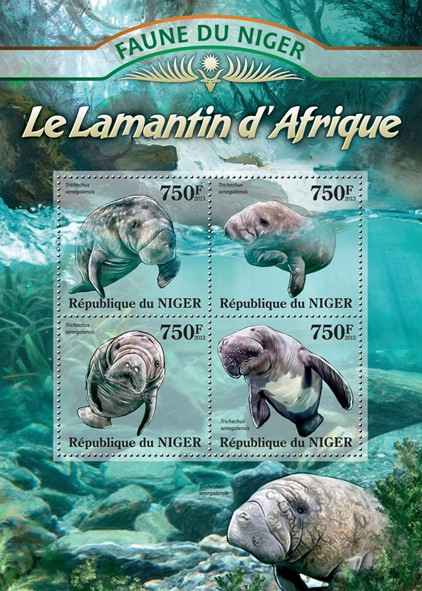 Manatee African - Issue of Niger postage stamps