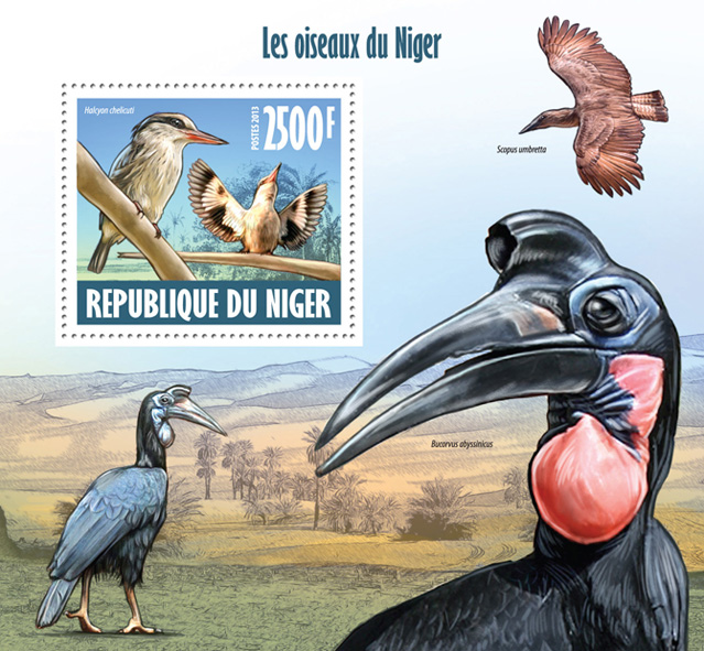Birds of Niger - Issue of Niger postage stamps