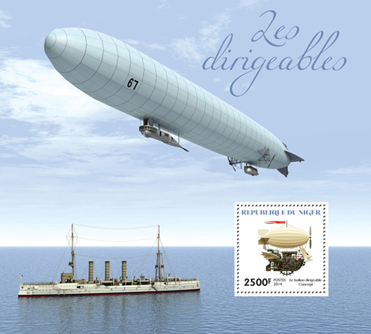 Dirigibles - Issue of Niger postage stamps